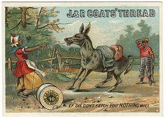 J. & P. Coats' Thread Victorian Trade Card