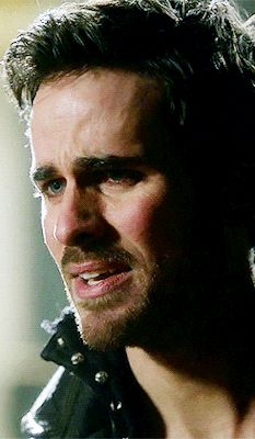 Urg he is trying not to cry. Poor hook!