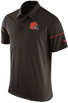 You'll never look better playing on the links or for an evening out in this  high-quality Nike Cleveland Browns NFL men's Team Issue polo shirt.