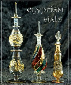 Legend tells us ancient Egyptians crafted unique and beautiful perfume bottles to collect the tears of those grieving the loss of the Pharoah.