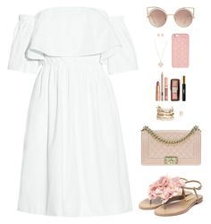 """Sin título #4071"" by mdmsb ❤ liked on Polyvore featuring Paper London, Rupert Sanderson, Chanel, MANGO, Panacea, Goshwara, MICHAEL Michael Kors, Kate Spade, Dolce Vita and Yves Saint Laurent"