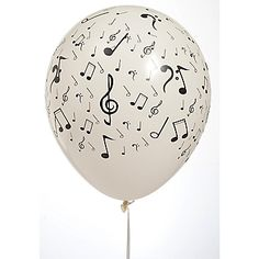 traditional b/w note balloons