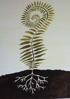 11x14 Print of Watercolor Painting of Fern via Etsy