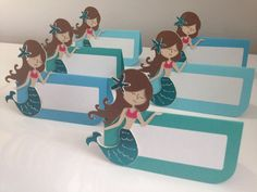 12 Mermaid Themed Place Card/ Food Lables by MiaSophias on Etsy https://www.etsy.com/listing/129592548/12-mermaid-themed-place-card-food-lables