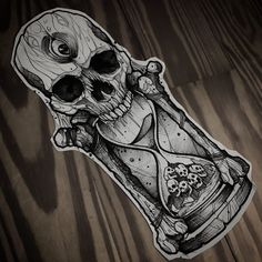 """""""Tiiiiiime is on my side."""" 🎼🎼Movie reference anyone? Info and booking Skull Tattoo Design, Tattoo Design Drawings, Tattoo Sketches, Art Drawings, Skull Sleeve Tattoos, Tattoo Sleeve Designs, Body Art Tattoos, Wing Tattoos, Dark Art Tattoo"""