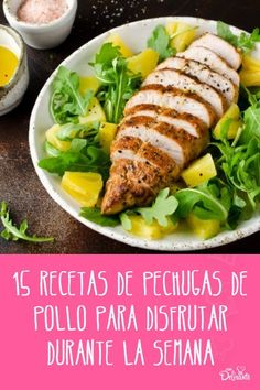 recetas de pechugas de pollo Deli, Salads, Cooking Recipes, Nutrition, Chicken, Health, Aikido, Food, Tutorials