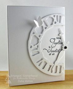 Weathered Clock die by Tim Holtz