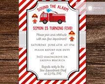 fire truck invitations - Google Search