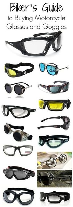 The Biker's Guide to Buying Motorcycle Glasses and Goggles