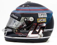 Lance Stroll - Williams - 2017 F1 2017, Helmet Visor, Helmet Paint, Custom Helmets, Racing Helmets, Helmet Design, Hats, Motorsport, Rally Raid