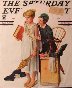 Spirit Of Education April 21, 1934 Norman Rockwell Saturday Evening Post