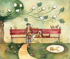 Stilblog » Róth Anikó After Marriage, Everyday Objects, Carpe Diem, Naive, Ankara, Folk Art, Illustration Art, Illustrator, Painting