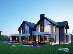 24 Ideas Exterior Bungalow Modern Home Plans Bungalow House Plans, Bungalow Homes, Modern House Plans, Modern House Design, Modern Zen House, Duplex House, Dream House Exterior, House Paint Exterior, Exterior Design