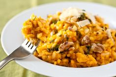 Pumpkin sage risotto - I made this for a thanksgiving potluck last year and people went bonkers over it! (vegan option, gluten-free)