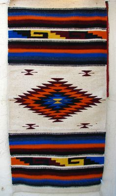 """SOUTHWEST RUG HAND WOVEN50% WOOL 50%NYLON MEASURES 30"""" X 60"""" MADE IN MEXICO ITEM THAT YOU SEE IN PICTURE IS THE ONE YOU WILL RECEIVE WHEN I SAY SIZE AND COL"""