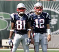 95fa538bf Tom Brady (right) and Randy Moss (left). In the two connected for 23  touchdowns receptions