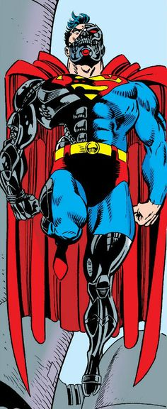 Hank crenshaw*Cyborg Superman by Dan Jurgens Superman Family, Superman Stuff, Comic Book Covers, Comic Books, Dc Comics Action Figures, Comic Villains, Dc Characters, Man Of Steel, American Comics