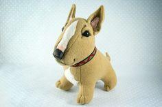 Bull Terriers, OOAK soft art toys on Behance