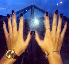 Love my black acrylics and new hand jewellery