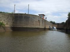 Small boat in a big lock: Upper Lode lock on the River Severn