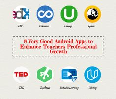 8 Good Android Apps to boost Teachers Professional Growth (Educational Technology and Mobile Learning) Learning Apps, Mobile Learning, Andriod Apps, Life Hacks Websites, Apps For Teachers, Teacher Tools, Teacher Binder, Professional Development For Teachers, 21st Century Skills