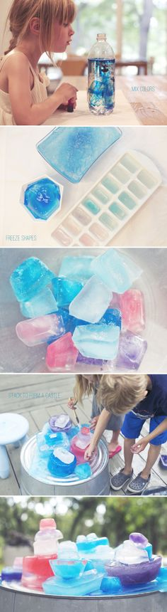 Great outdoor activity this summer: Make a Frozen castle with ice