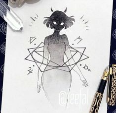 Artists to Observe this Inktober for Inspiration & Concepts — JeyRam : Anime Drawings & Sketches Anime Drawings Sketches, Dark Art Drawings, Pencil Art Drawings, Cute Drawings, Crazy Drawings, Arte Sketchbook, Arte Horror, Creepy Art, Art Reference Poses