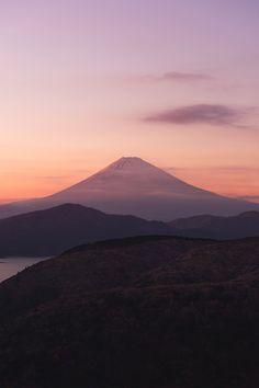 A day when sinking by Ginji Fukasawa, Shot of Mt Fuji from Hakone, Japan.