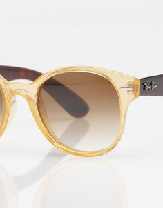 ray ban - round frame in yellow