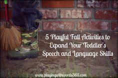 playful fall activities to build speech and language