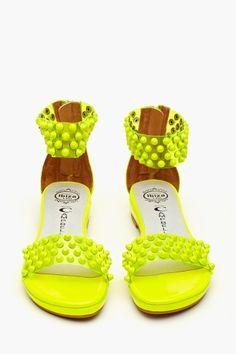 959b4ce87ff2 Largo Studded Sandal - Neon Yellow Neon Yellow