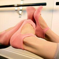 Yoga socks... fun!!! Need these for hot yoga!