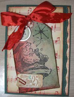 Tim Holtz Christmas Cards | Christmas card using Tim Holtz. | Cards