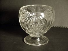 EAPG New England Pineapple Clear Flint Sugar Bowl Sandwich Glass Antique 1860's