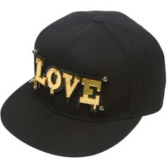 Love Plate Snapback Hat (£8.56) ❤ liked on Polyvore featuring accessories, hats, black, baseball cap, snapback hats, snap back hats, baseball snapback hats and adjustable hats