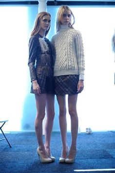 Long line Aran jumper Elliot Atkinson A/W 2011 collection  It's a shame the model is wearing it back to front!!