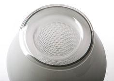 Details we like / Lamp / Glas / Pattern / at Benjamin Hubert blows glass to form Beacon lamps
