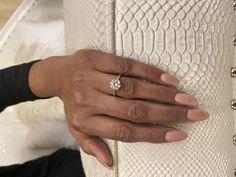 Round brilliant solitaire diamond engagement ring Eternity Ring Diamond, Diamond Solitaire Rings, Halo Diamond Engagement Ring, Engagement Ring Styles, Designer Engagement Rings, Custom Jewelry Design, Wedding Ring Bands, Fashion Rings, Fashion Ring