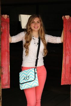 Monogrammed  Trendy   Chevron print  Fun Spring by Justgetpampered, $30.99