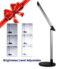 """New Clevr Adjustable Touch Control Luxury LED Desk Lamp Night Reading Light. •Lasts up to 50,000 hours •Energy Efficient, Anti-Flicker LED Bulb. •Easy touch sensor controls 7 brightness levels •Adjustable Three Axis, Full Range Rotation. •Product Dimensions: 8""""x3.5""""x16.5"""". •7W •100V-240V. •50,000H Lifespan •CE and ROHS Certified."""