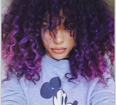 itschanicerich:  Purple curls
