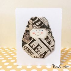 Baby Wishes, New Baby Wishes, Origami Card by TheCraftedLounge on Etsy