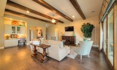 Living Room of new home in  Parkside at Mayfield Ranch 70' Homesites