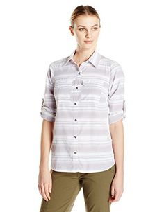 Camp Clothing - Columbia Womens Pilsner Peak Stripe Long Sleeve Shirt * Want additional info? Click on the image.
