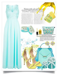 """""""Turquoise and yellow."""" by erina-salkic ❤ liked on Polyvore featuring Vanity Fair, Aevha London, New Look, Amrita Singh, Jacki Design, Liberty, Lauren B. Beauty and Charlotte Russe"""