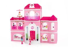 toys for girls age 8 | Barbie Build 'n Style Luxury Mansion - Mega Bloks