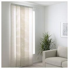 FÖNSTERVIVA Panel curtain - white/beige - IKEA