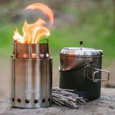 Charmant New Stove Pot Camp Stove Camping Hiking Cooking Wood Burner Portable  Backpacking #SoloStove #PocketStove