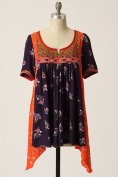 Embroidered Patchwork Tunic - anthropologie.com