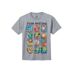 Boys 8-20 DC Comics Justice League Team Awesome Tee, Boy's, Size: Medium, Grey